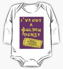 I've Got A Golden Ticket One Piece - Long Sleeve