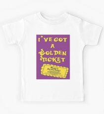 I've Got A Golden Ticket Kids T-Shirt