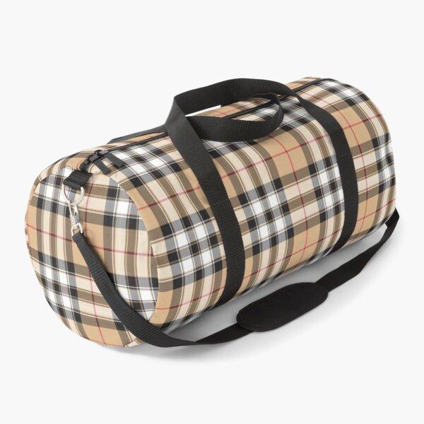 Pride of scotland gold tartan fabric texture Duffle Bag