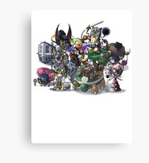Final Fantasy Pokemon Collection Group Set 1 Canvas Print