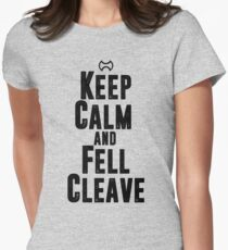 Keep Calm and Fell Cleave Womens Fitted T-Shirt
