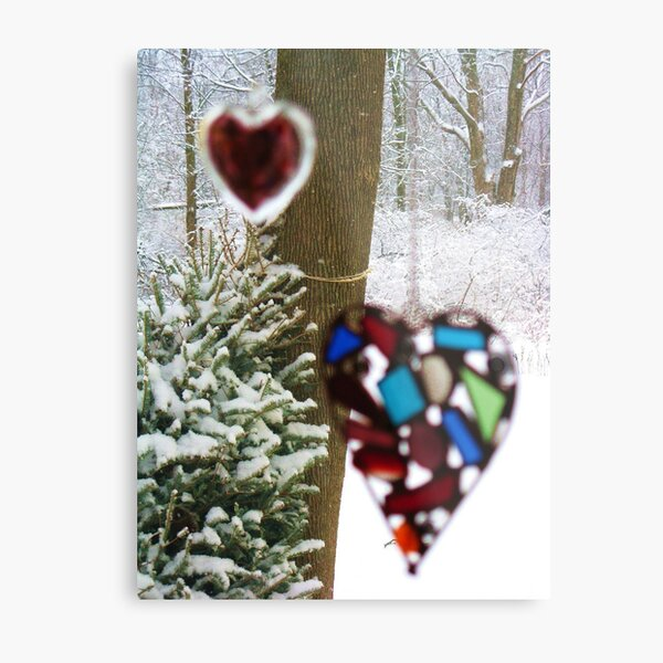 A Snowy (But Warm) Valentine Metal Print