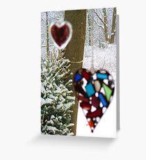 A Snowy (But Warm) Valentine Greeting Card