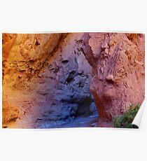 Multicolored slot canyon, Utah Poster