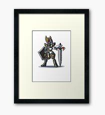Final Fantasy - Bisharp Warrior Framed Print