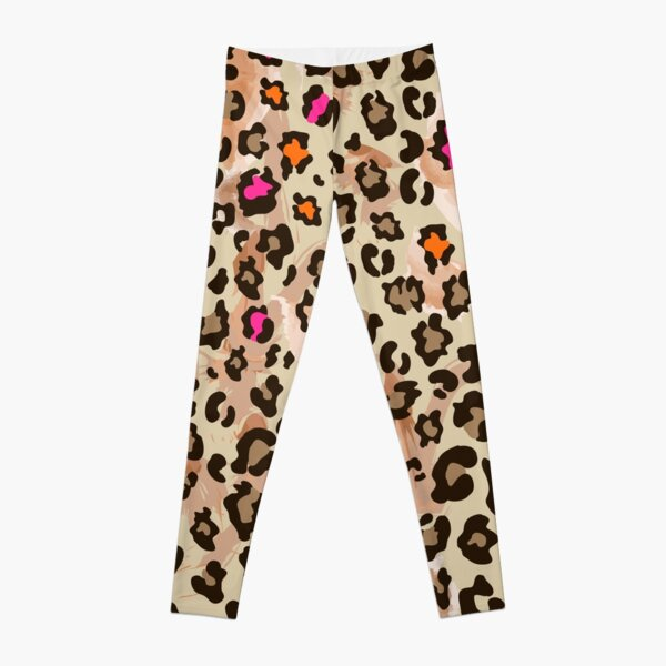 Animal leopard pattern with neon color Leggings