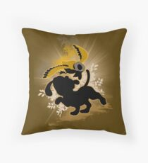 Super Smash Bros. Brown Duck Hunt Dog Silhouette Throw Pillow