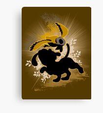 Super Smash Bros. Brown Duck Hunt Dog Silhouette Canvas Print