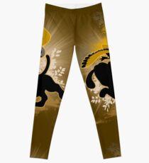Super Smash Bros. Brown Duck Hunt Dog Silhouette Leggings