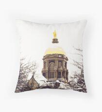 Notre Dame - Golden Dome Throw Pillow