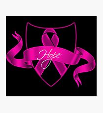 Breast Cancer Hope Poster Photographic Print