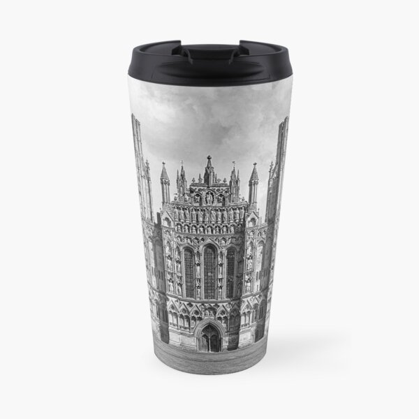 Wells Cathedral in Black and white  Travel Mug