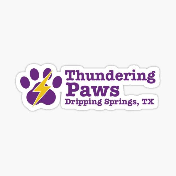 Thundering Paws Rectangle Logo Sticker