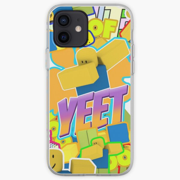 Roblox Memes Pattern All The Noobs Oof ,Yeet, Dab, Dabbing iPhone Soft Case