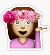 Emoji girl flower Sticker