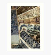 Old German money Art Print