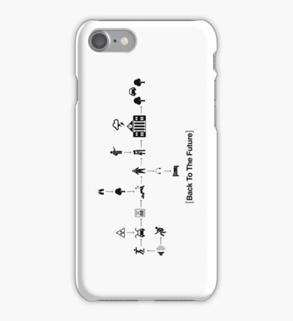 Back To The Future Pictogram Story  iPhone Case/Skin