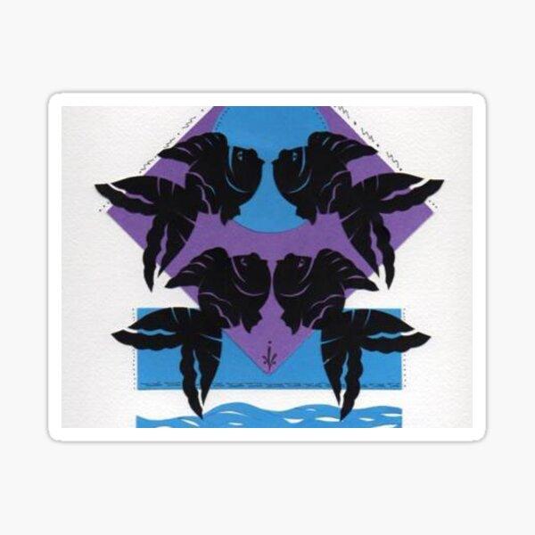 Four Fish Silhouette Design Sticker