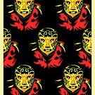 El Mascarado Wall Yellow by counterpartfilm