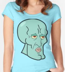 Handsome Squidward Women's Fitted Scoop T-Shirt
