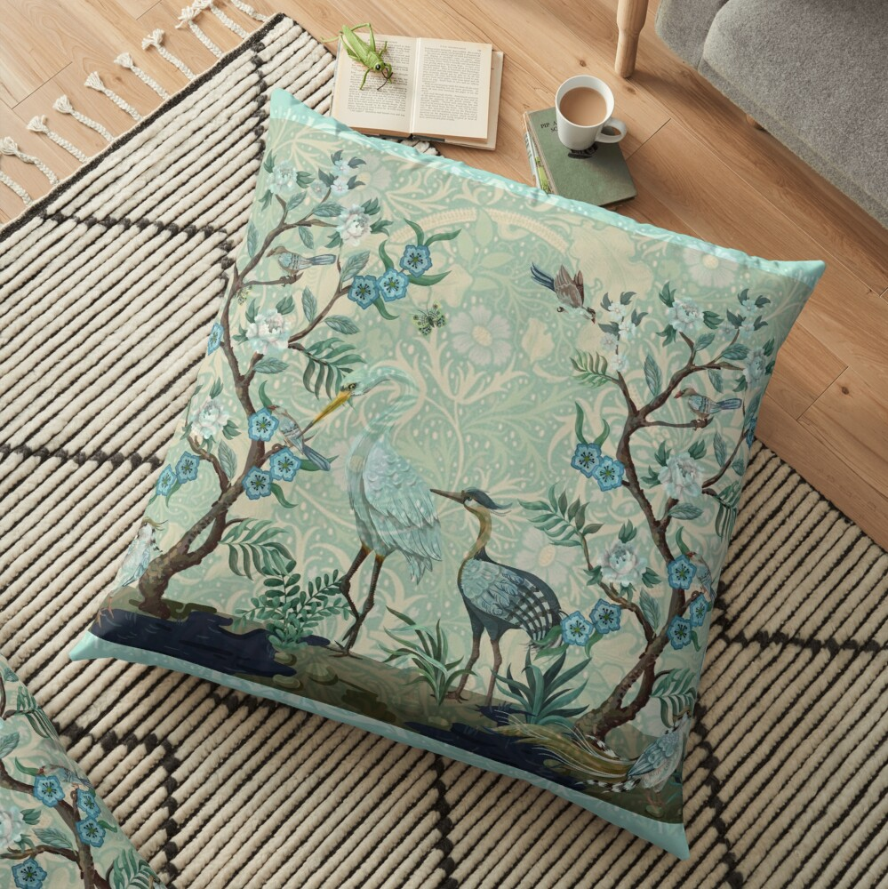 The Chinoiserie Panel Floor Pillow
