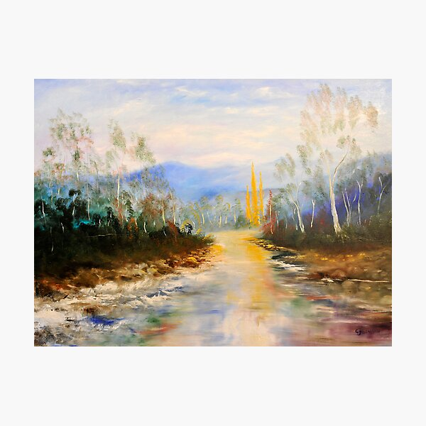 ovens river winter color Photographic Print