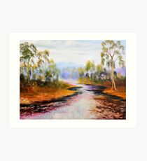 ovens river purple delights Art Print