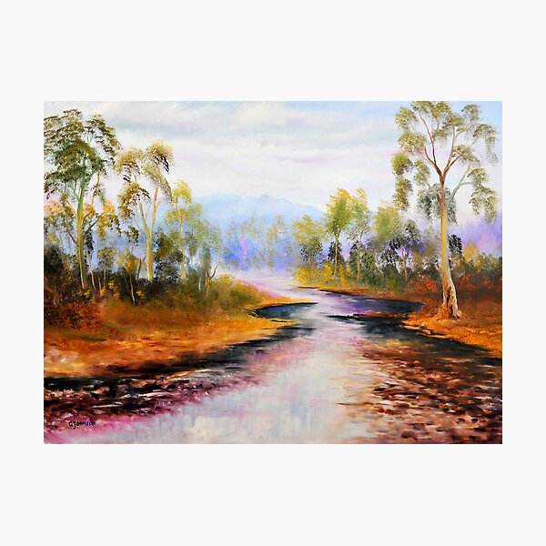 ovens river purple delights Photographic Print