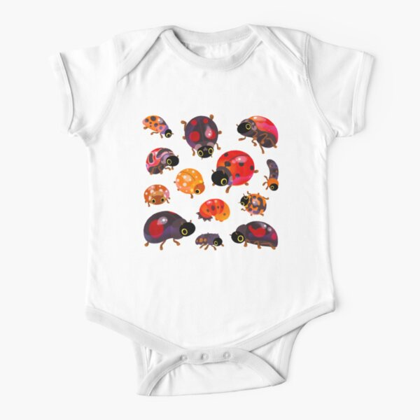 Lady beetles Short Sleeve Baby One-Piece