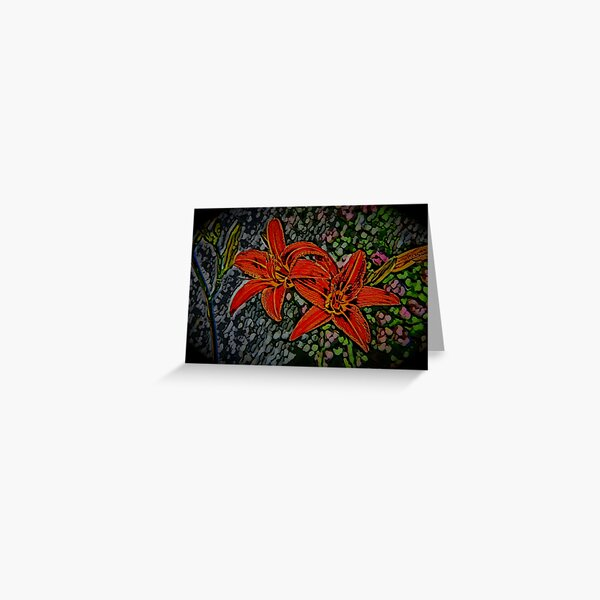 Nightblooming Daylily Flowers Greeting Card