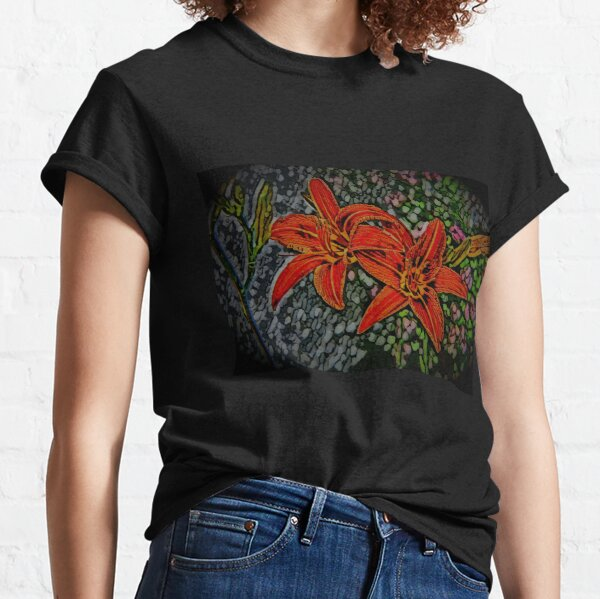 Nightblooming Daylily Flowers Classic T-Shirt