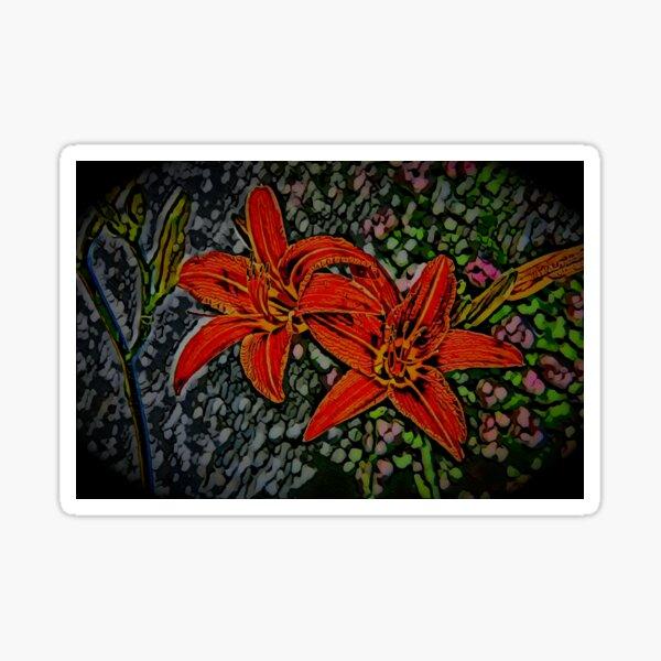 Nightblooming Daylily Flowers Sticker