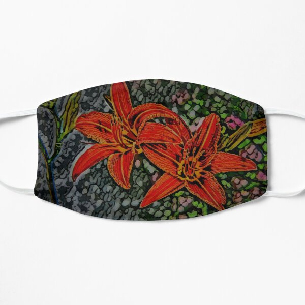Nightblooming Daylily Flowers Flat Mask