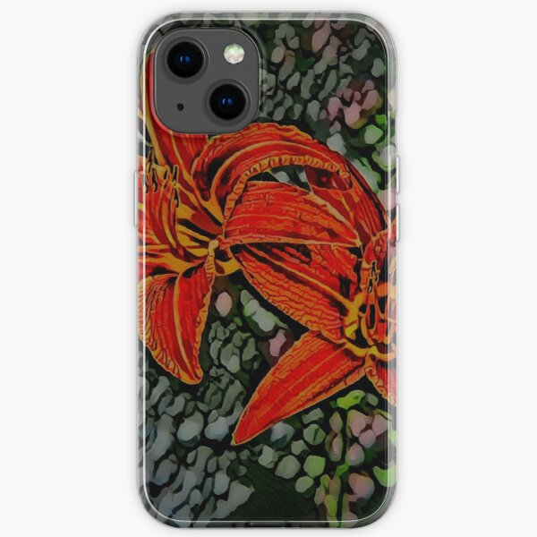 Nightblooming Daylily Flowers iPhone Soft Case