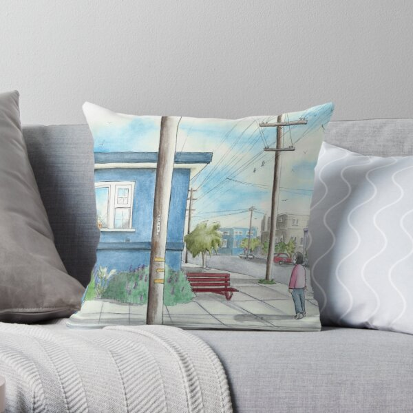 Street Scene Pillows Cushions Redbubble
