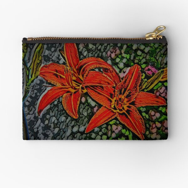Nightblooming Daylily Flowers Zipper Pouch