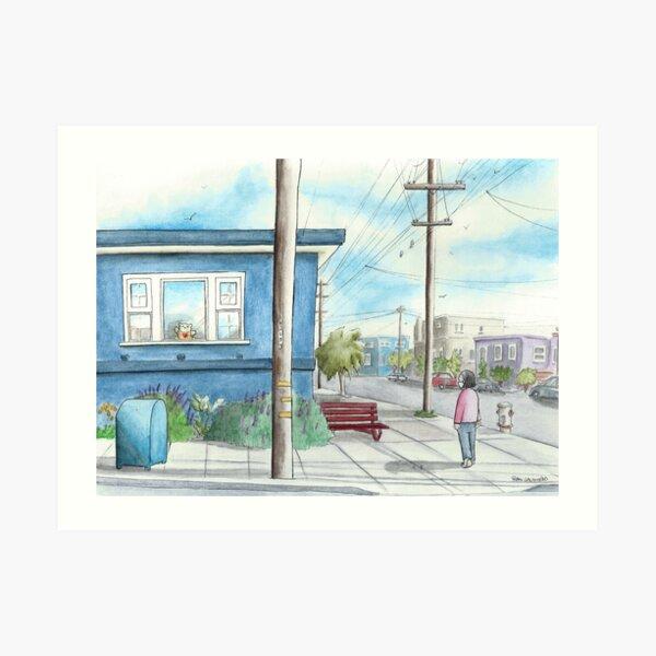 """Teddy on Cabrillo Street"" Art Print"