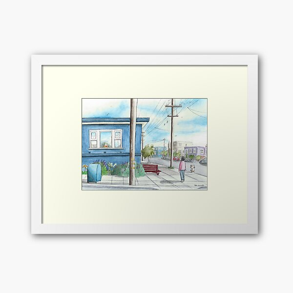 """Teddy on Cabrillo Street"" Framed Art Print"