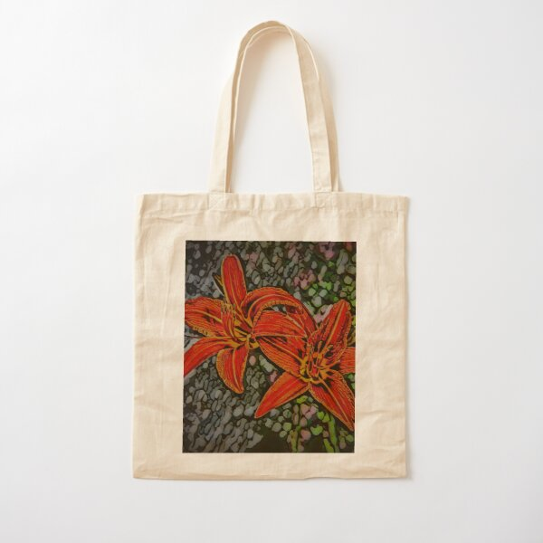 Nightblooming Daylily Flowers Cotton Tote Bag