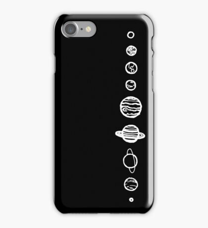 Black Planets iPhone Case/Skin