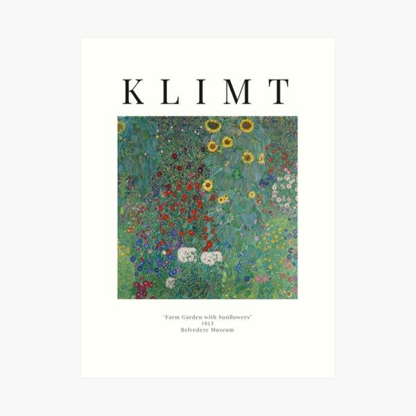 Cottage Garden With Sunflowers - Gustav Klimt - Exhibition Poster Art Print
