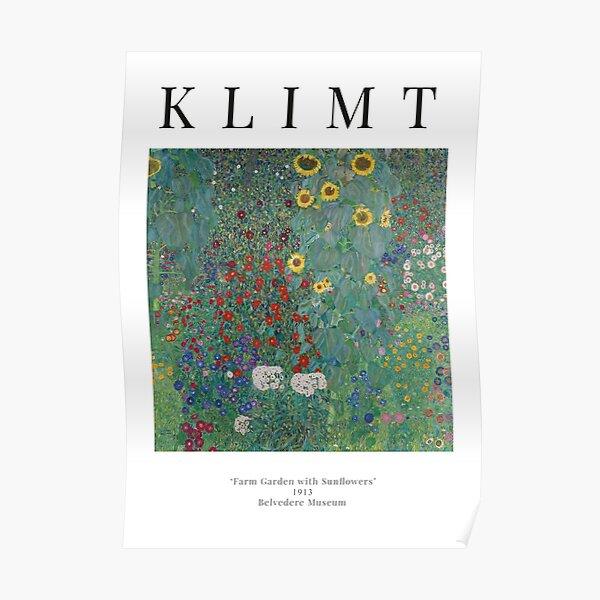 Jardin de chalet avec tournesols - Gustav Klimt - Affiche d'exposition Poster