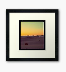 Sunset Safari Framed Print