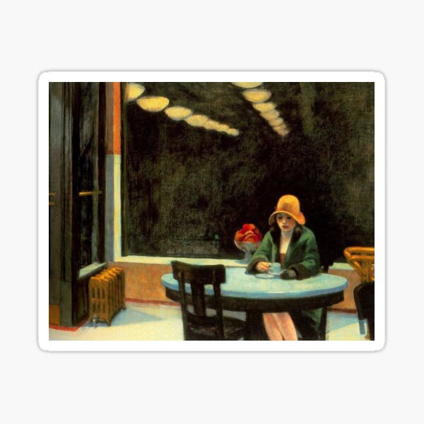 AUTOMAT - EDWARD HOPPER Sticker