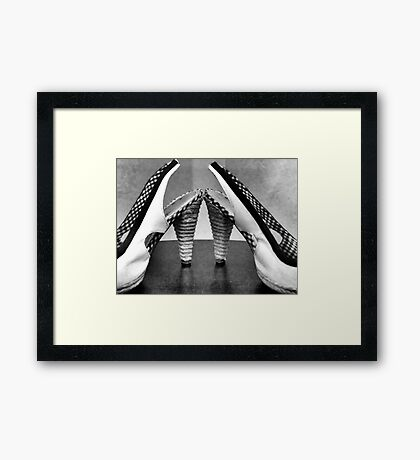 Dancin Shoes Framed Print