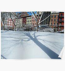 West 30s Manhattan Snow Views, New York City Poster