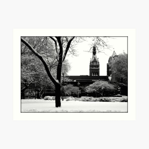 Downtown Cathedral Square Park © Art Print