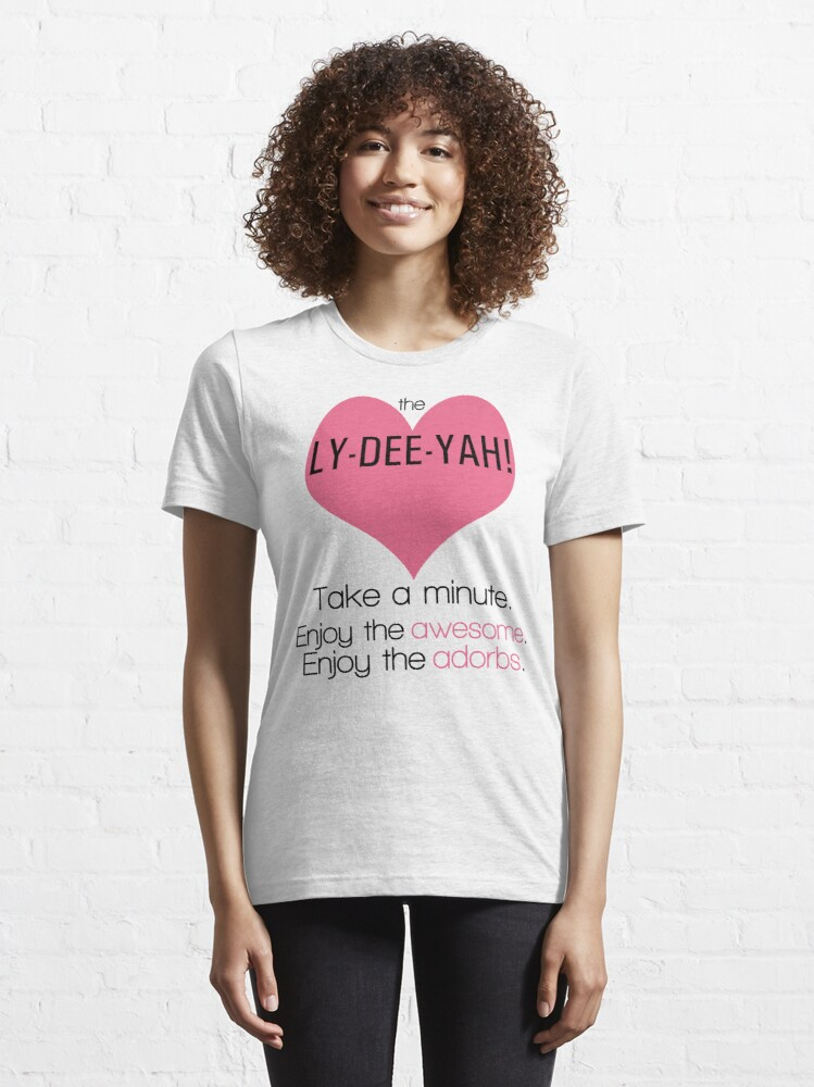 Alternate view of The Lizzie Bennet Diaries   The Ly-Dee-Yah! Essential T-Shirt