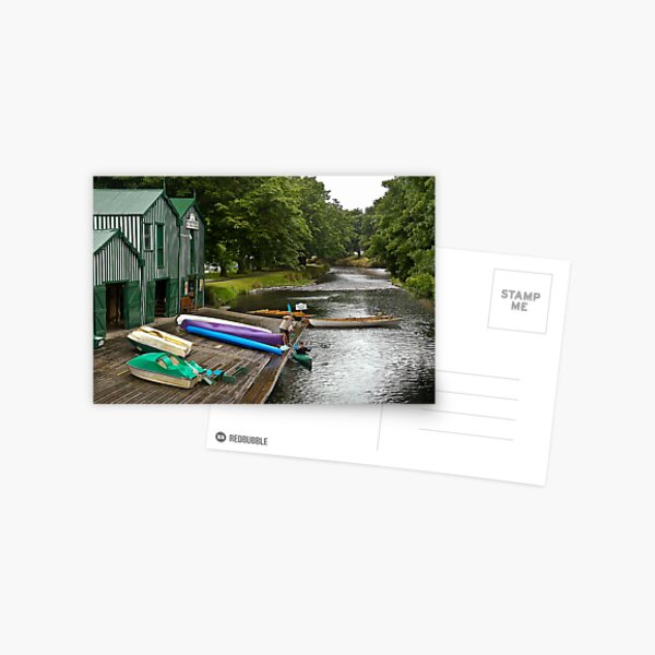 Boat Shed on the River Postcard