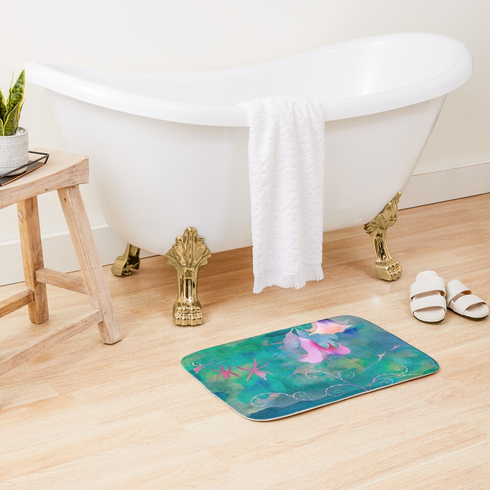 Afternoon in the tropical forest Bath Mat